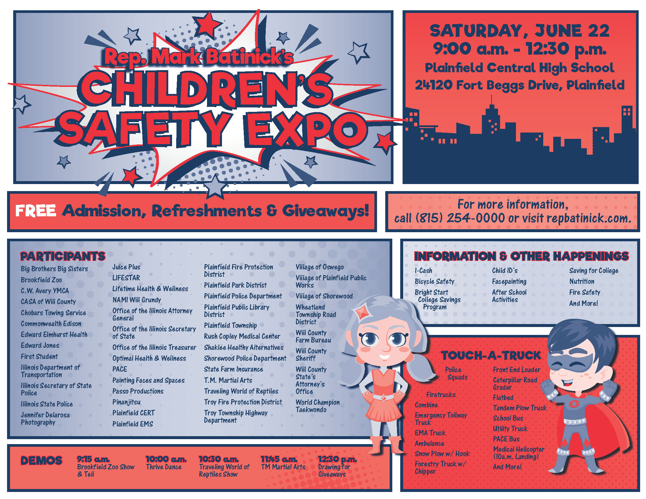 Batinick's Children's Safety Expo Set for June 22nd - Mark Batinick